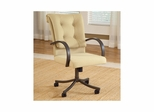 Golden Bronze Harbour Point Set of 2 Castered Dining Chairs - Hillsdale