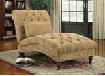 Golden Toned Accent Chaise with Elegant Traditional Style - 902077