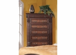 Grand Prado Tall Chest in Brown Cherry - 202205