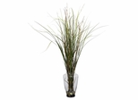 Grass and Bamboo with Large Jar Silk Plant - Nearly Natural - 6701