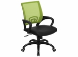 Green Mesh Office Chair with Black Leather Seat - CP-B176A01-GREEN-GG