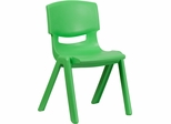 Green Plastic Stackable School Chair - YU-YCX-005-GREEN-GG