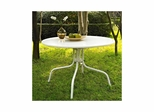 "Griffith Metal 40"" Dining Table in White - CROSLEY-CO1012A-WH"