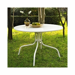 """Griffith Metal 40"""" Dining Table in White - CROSLEY-CO1012A-WH"""