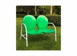 Griffith Metal Loveseat in Grasshopper Green - CROSLEY-CO1002A-GR