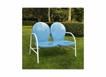 Griffith Metal Loveseat in Sky Blue - CROSLEY-CO1002A-BL