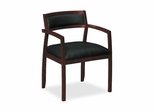 Guest Chair - Mahogany/Black Leather - BSXVL852NST11