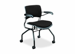 Guest Chair - Raven Fabric/Black Frm - HON4316BE11T