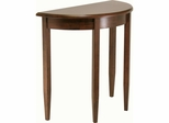 Half Moon Console Table in Antique Walnut - Winsome Trading - 94132