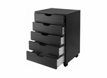 Halifax Closet Cabinet in Black - Winsome Trading - 20519