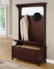 """Hall Tree with Storage Bench - Contemporary """"Merlot"""" - Powell Furniture - 383-258"""