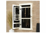 Halsey Wall Mount Jewelry Armoire in Antique White - Holly and Martin