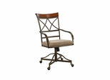 Hamilton Swivel-Tilt Dining Chair on Casters - 2 pcs in 1 carton - Powell Furniture - 697-435