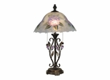 Hand Painted Purple Flower Table Lamp - Dale Tiffany