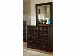 Harbor Dresser with Mirror in Rich Cappuccino - Coaster - 201383-84-SET