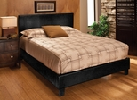 Harbortown Queen Size Platform Bed in Black Vinyl - Hillsdale Furniture - 1610BQR