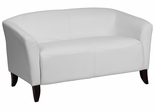 HERCULES Imperial Series White Leather Love Seat  - 111-2-WH-GG