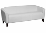 HERCULES Imperial Series White Leather Sofa - 111-3-WH-GG