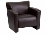 HERCULES Majesty Series Brown Leather Chair  - 222-1-BN-GG