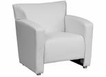 HERCULES Majesty Series White Leather Chair  - 222-1-WH-GG