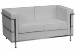 HERCULES Regal Series Contemporary White Leather Love Seat - ZB-Regal-810-2-LS-WH-GG