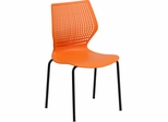 HERCULES Series 770 lb. Capacity Designer Orange Stack Chair - RUT-358-OR-GG
