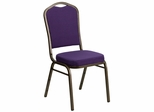 HERCULES Series Crown Back Stacking Banquet Chair  - FD-C01-PUR-GV-GG
