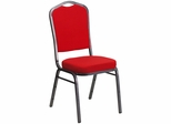 HERCULES Series Crown Back Stacking Banquet Chair - FD-C01-SILVERVEIN-RED-GG