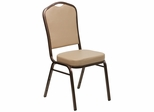 HERCULES Series Crown Back Stacking Banquet Chair with Tan Vinyl - FD-C01-COPPER-TN-VY-GG