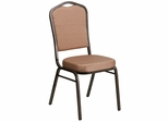 HERCULES Series Stacking Banquet Chair with Patterned Fabric - FD-C01-GOLDVEIN-GO-GG