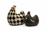 Herrick Black and White Chickens (Set of 2) - IMAX - 19095-2