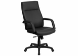 High Back Black Leather Executive Office Chair - BT-90033H-BK-GG
