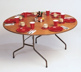"""High-Pressure 3/4"""" Top Folding Table 48"""" Round - Correll Office Furniture - CF48PX"""