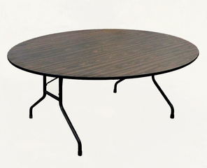 """Walnut Top High-Pressure 3/4"""" Top Folding Table 60"""" Round - Correll Office Furniture - CF60PX"""