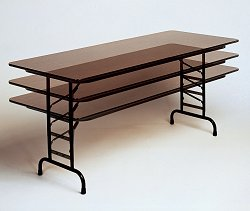 """High-Pressure 5/8"""" Top Adjustable Folding Table 30"""" x 72"""" - Correll Office Furniture - CFA3072P"""