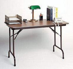 """High-Pressure 5/8"""" Top Folding Table 24"""" x 48"""" - Correll Office Furniture - CF2448P"""