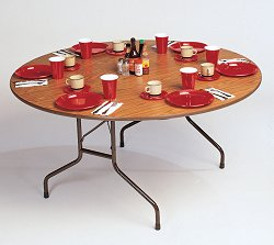 """High-Pressure 5/8"""" Top Folding Table 48"""" Round - Correll Office Furniture - CF48P"""