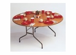 "High-Pressure 5/8"" Top Folding Table 60"" Round - Correll Office Furniture - CF60P"