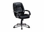 Home Office Chair in Black Leather - Coaster