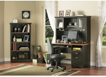 Home Office Furniture Desk Set in Spice Wood/Ebony - South Shore Furniture - 7378-OSET