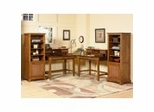 Home Office Furniture Set in Soft Mahogany - Jamaican Bay
