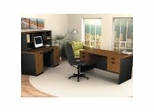 Home Office Furniture Set in Tuscany Brown and Black - Hampton - Bestar Office Furniture