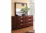 Hyland Dark Cherry Drawer Dresser - 202243