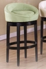 "Igloo 26"" Swivel Barstool in Green Microfiber / Ebony - Armen Living - LCIGBAMFGR26"