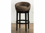 "Igloo 30"" Swivel Barstool in Brown Microfiber / Ebony - Armen Living - LCIGBAMFBR30"