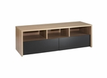 Infini-T 60'' 2 Extra Wide Drawer TV Stand in Biscotti - Nexera Furniture