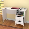 Inval Laura White Modern Desk with Three Accessory Drawers
