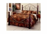 Iron Bed / Metal Bed - Ardisonne Bed in Old Silver and Cherry Finish - Hillsdale Furniture
