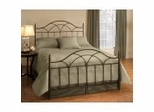 Iron Bed / Metal Bed - Aria Bed in Brown Rust - Hillsdale Furniture