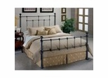 Iron Bed / Metal Bed - Bowman Bed in Hammer Tone / Smoke Grey Finish - Hillsdale Furniture